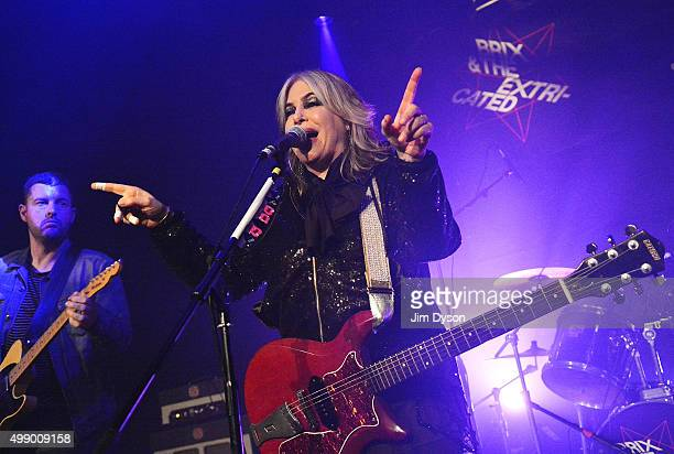 American musician Brix Smith Start performs with The Extricated a band consisting of former members of The Fall at ICA on November 27 2015 in London...