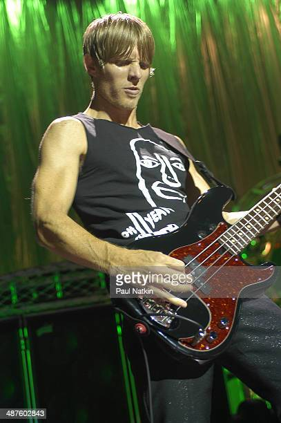 American musician Chris Chaney bassist for the band Jane's Addiction performs onstage Milwaukee Wisconsin July 11 2003