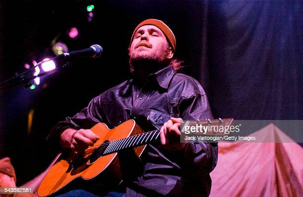 American musician Citizen Cope plays guitar as he performs onstage at the Hammerstein Ballroom New York New York March 4 2002