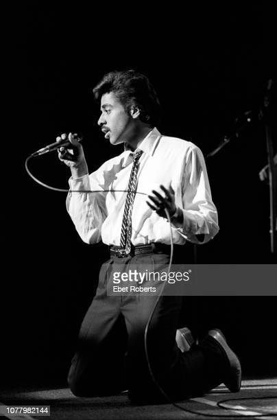American musician composer and actor Morris Day and The Time performing at the Palladium in New York City on December 3 1981