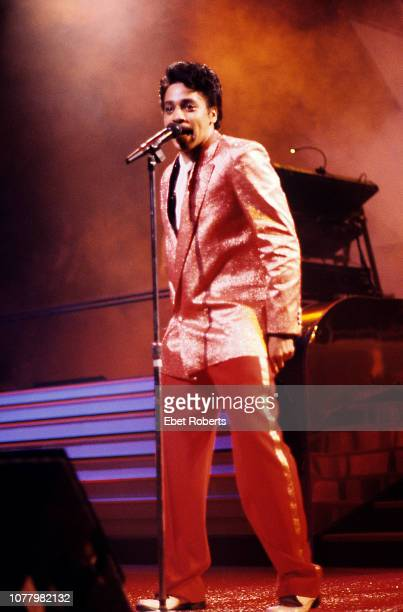 American musician composer and actor Morris Day performing at the Beacon Theatre in New York City on November 5 1985