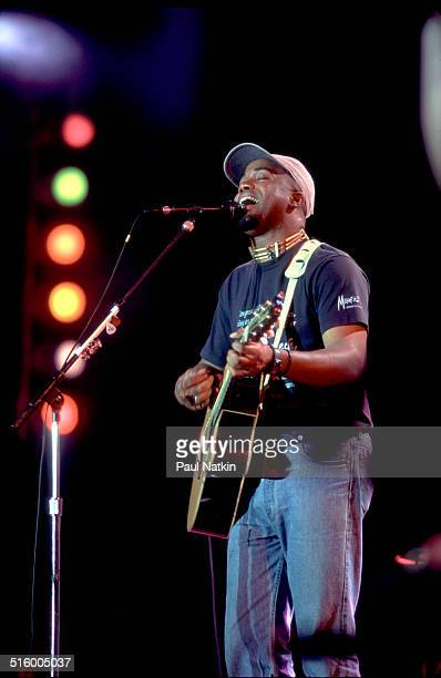 American musician Darius Rucker of the band Hootie and the Blowfish performs onstage at Farm Aid Louisville Kentucky October 1 1995