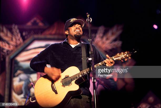 American musician Darius Rucker of the band Hootie and the Blowfish performs onstage at the World Music Theater Tinley Park Illinois October 3 1998