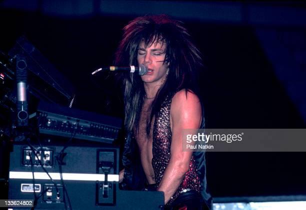 American musician David Bryan of the band Bon Jovi at Met Center on Bloomington Minnesota April 4 1989