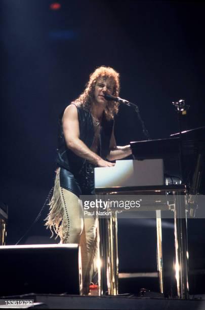 American musician David Bryan of the band Bon Jovi performs at the Rosemont Horizon Rosemont Illinois March 15 1993