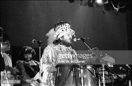 American musician Dr John and his band perform onstage on the opening night of the Bottom Line music venue New York New York February 12 1974