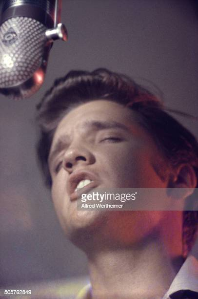 Alfred Wertheimer/Getty Images American musician Elvis Presley records at RCA Victor's Studio 1 New York New York July 2 1956 At the session he and...