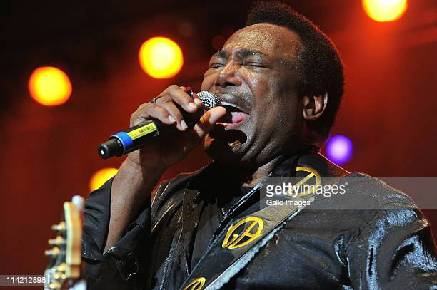 American musician George Benson performs during the Nelson Mandela Bay International Music Festival at Nelson Mandela Stadium on May 14 2011 in Port...