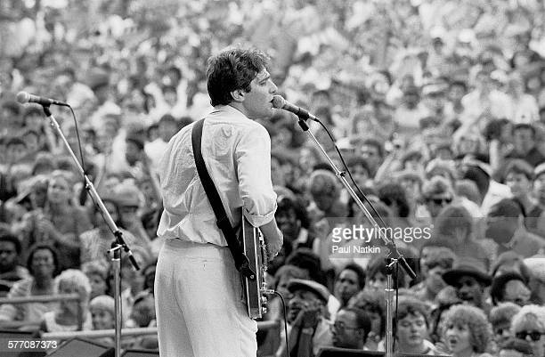 American musician Glenn Frey performs onstage at the Petrillo Band Shell during the Chicago BluesFest Chicago Illinois July 4 1985