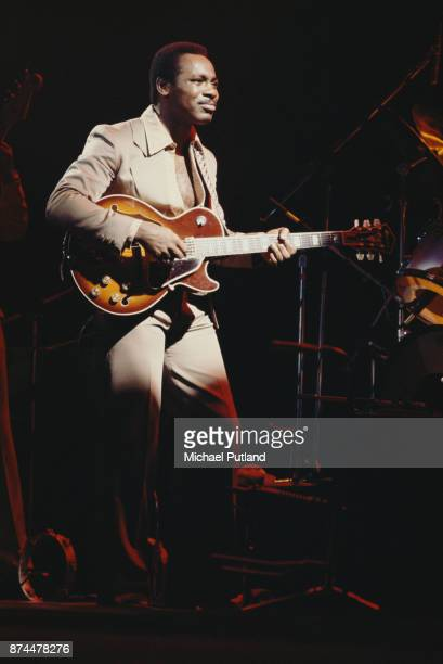 American musician guitarist and singersongwriter George Benson performs on stage New York 1978