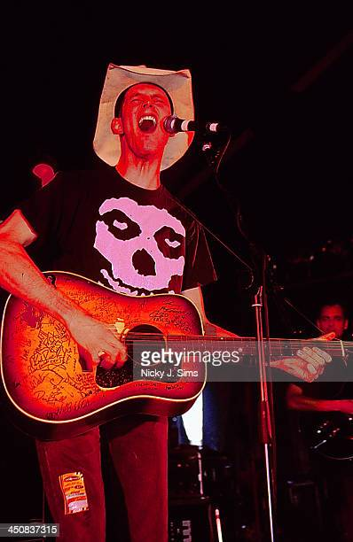 American musician Hank Williams III on stage at Reading Festival UK 2000