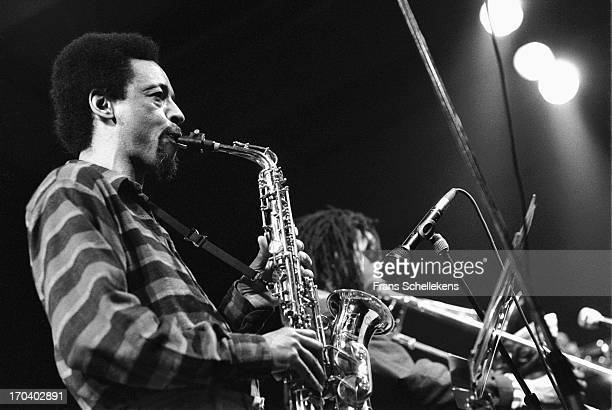 American musician Henry Threadgill performs with Frank Lacy at the BIM Huis in Amsterdam Netherlands on 24th March 1988