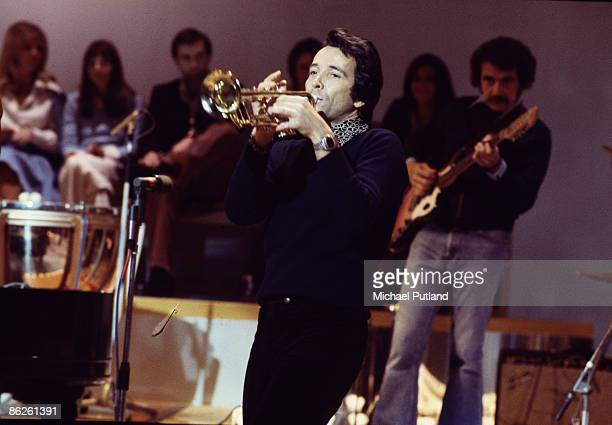 American musician Herb Alpert on his European Tour with the TJB a new band formed from some of the former members of Herb Alpert's Tijuana Brass 1974
