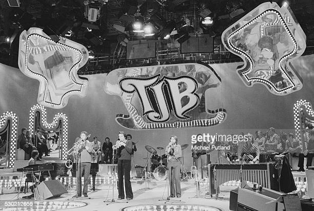 American musician Herb Alpert performing at a TV studio during his European Tour with the TJB a new linup of the Tijuana Brass October 1974