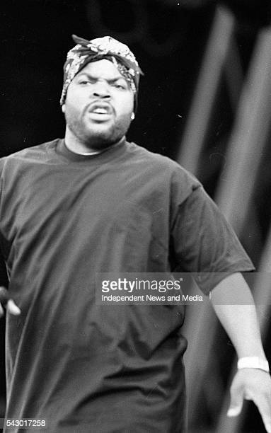 American musician Ice Cube performs at the Sunstroke festival in Dalymount Dublin Ireland August 25 1994