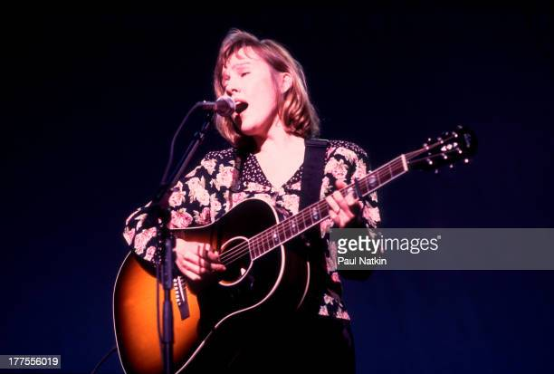 American musician Iris DeMent performs on stage Chicago Illinois November 4 1997