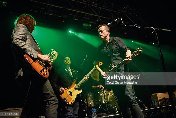 American musician Jason Isbell and his band performing live on stage at the O2 Academy in Bristol on January 20 2016