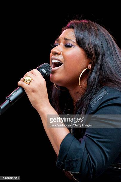 American musician Jazmine Sullivan performs during an afternoon concert of contemporary RB and Soul singers at Central Park SummerStage New York New...