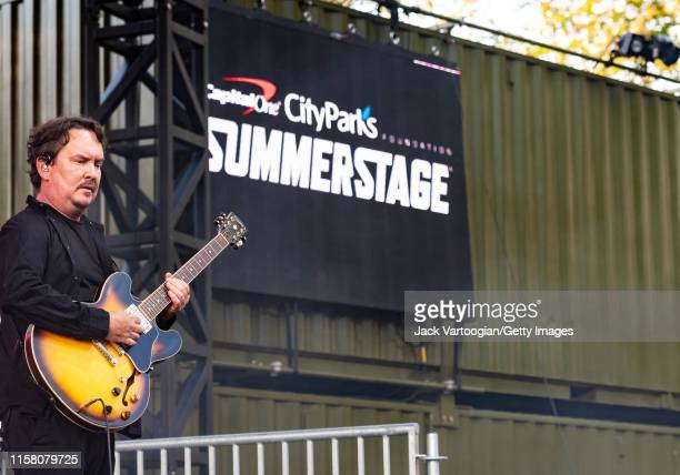 American musician Jeff Raines of the jam band Galactic plays guitar as he performs onstage at Central Park SummerStage New York New York June 4 2019...