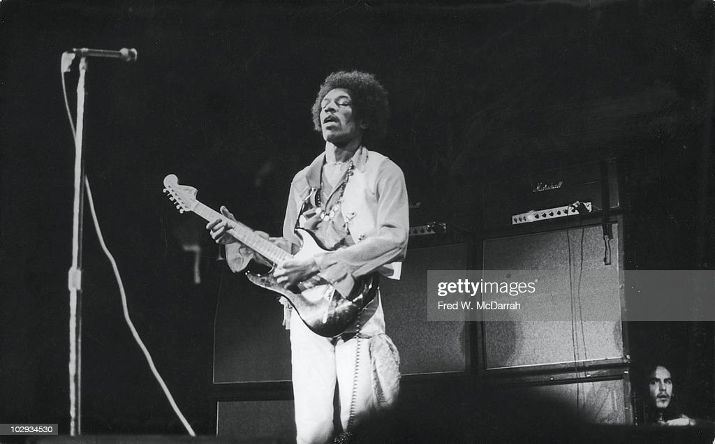 Jimi Hendrix Performs At  Winter Concert For Peace : News Photo