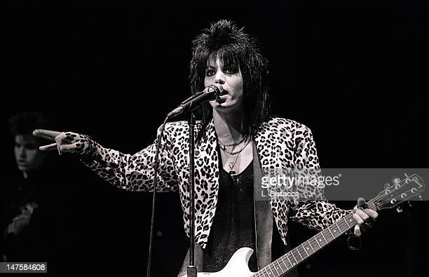 Joan Jett performs in concert circa 1984 in New York City