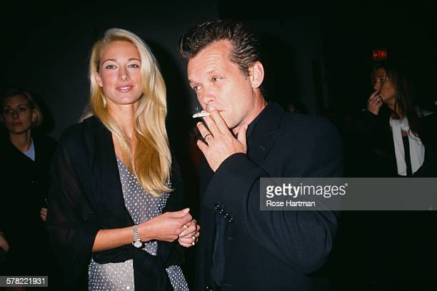 American musician John Mellencamp and his wife model Elaine Irwin attend the 50th Anniversary Celebration of the Ford Modeling Agency on October 29...