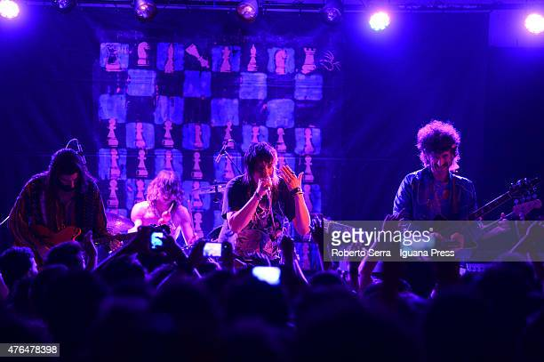 American musician Julian Casablancas performs with The Voidz Amir Yaghmai and Alex Carapetis and Jeramy 'Beardo' Gritter in concert at Bolognetti...