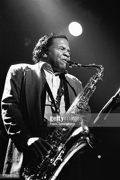 American musician Junior Walker performs at the Melkweg in Amsterdam, Netherlands on 7th August 1988.