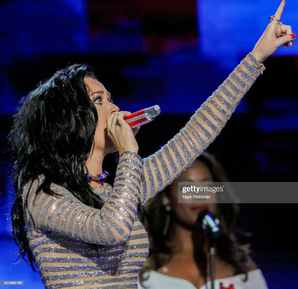 Katy Perry Performs At The DNC : News Photo