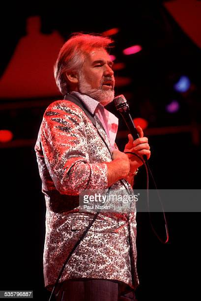 American musician Kenny Rogers performs at the Rosemont Horizon Rosemont Illinois April 12 1986