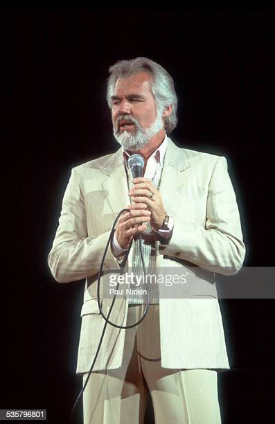American musician Kenny Rogers performs at the Rosemont Horizon Rosemont Illinois April 15 1983