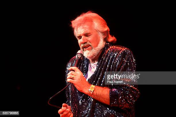 American musician Kenny Rogers performs at the Rosemont Horizon Rosemont Illinois March 22 1985