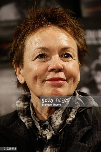 American musician Laurie Anderson attends a media conference to launch the Vivid LIVE program at Sydney Opera House on May 28 2010 in Sydney...