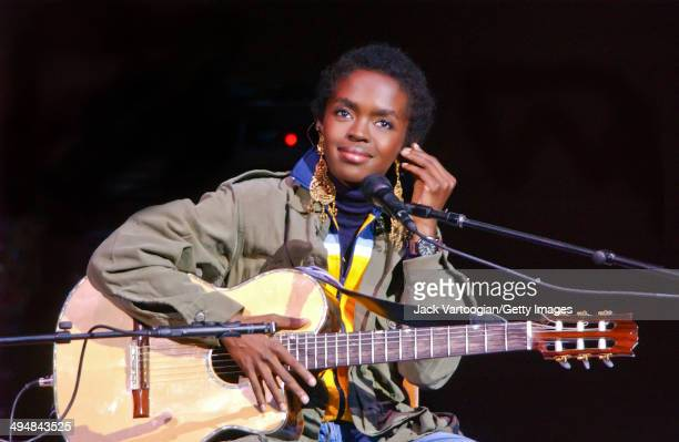 American musician Lauryn Hill performs an acoustic solo set during the JVC Jazz Festival at Carnegie Hall New York New York June 23 2002
