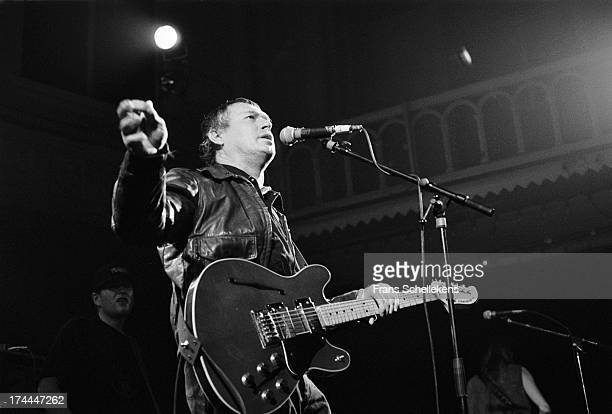 American musician Lee Clayton performs live on stage at the Paradiso in Amsterdam, Netherlands on 28th October 1989.
