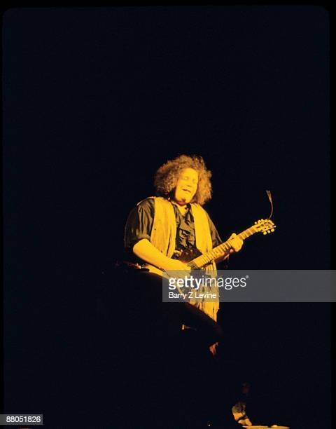 American musician Leslie West of the group Mountain performs onstage at the Woodstock Music and Arts Fair in Bethel New York August 16 1969