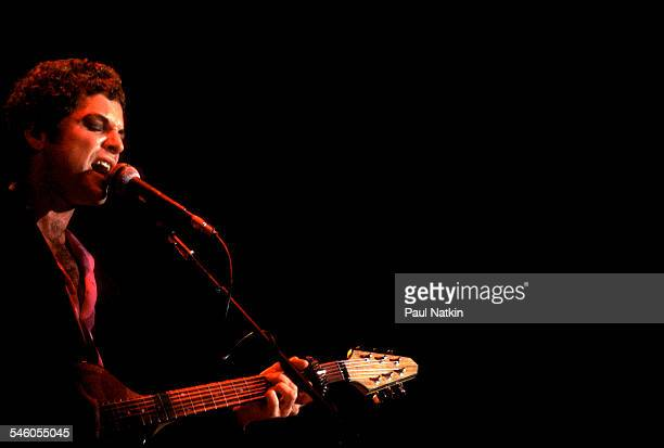 American musician Lindsey Buckingham of the group Fleetwood Mac performs onstage at the Rosemont Horizon Rosemont Illinois May 14 1980