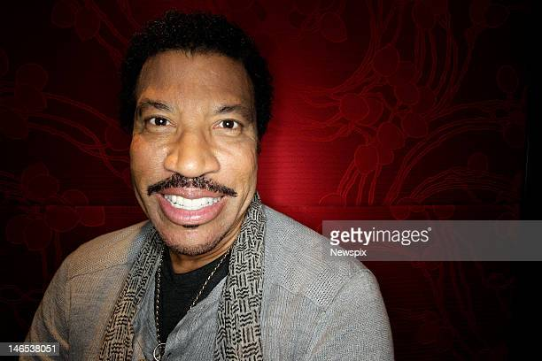 American musician Lionel Richie in Australia poses during a photo shoot at The Darling Hotel, The Star on June 18, 2012 in Sydney, Australia.