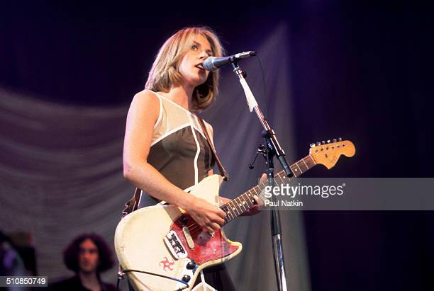 American musician Liz Phair performs onstage Chicago Illinois August 15 1998