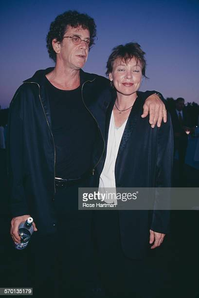 American musician Lou Reed and experimental performance artist Laurie Anderson USA circa 1995