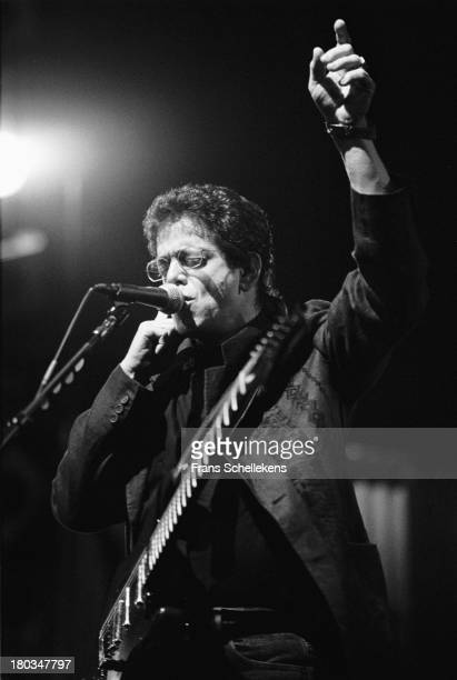 American musician Lou Reed performs live on stage at Carré in Amsterdam, Netherlands on 18th June 1989.