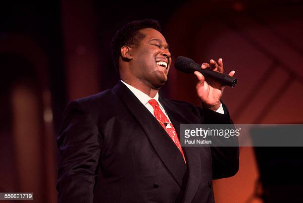 American musician Luther Vandross performs on the 'Oprah Winfrey Show' Chicago Illinois June 24 1991
