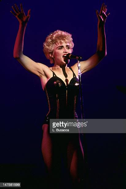 American musician Madonna performs in concert New York New York circa 1989