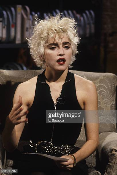 American musician Madonna poses for photographs New York New York circa 1989
