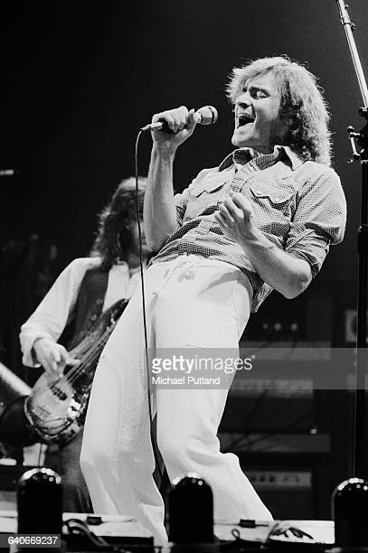 American musician Marty Balin performing with rock group Jefferson Starship New York USA September 1978