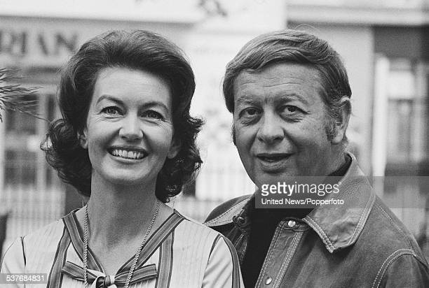 American musician Mel Torme pictured with his wife actress Janette Scott in London on 17th June 1976