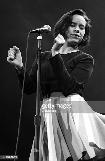 American musician Natalie Merchant of the group 10000 Maniacs performs onstage at the NYC Paramount Theater New York New York November 20 1992