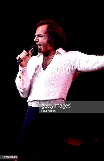 American musician Neil Diamond performs on stage at the Rosemont Horizon Rosemont Illinois April 30 1983