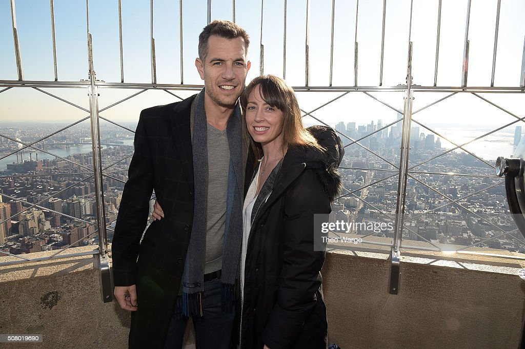 American musician Nick Hexum and wife Nikki Hexum oin The Empire State Building Run Up For MMRF on February 2, 2016 in New York City.