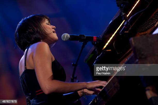 American musician Norah Jones performs onstage during the Farm Aid 25th Anniversary Concert at Miller Park Milwaukee Wisconsin October 2 2010